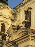 Exterior Detail of Baroque Facade of St. Nicholas Church, Stare Mesto, Czech Republic Photographic Print by Richard Nebesky