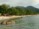 Tourists Enjoying Nipah Beach at Sunset Time, Pangkor Island, Perak State, Malaysia Photographic Print by Richard Nebesky