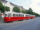 Tram, Leopoldstadt, Vienna, Austria Photographic Print by Richard Nebesky
