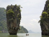 View of Koh Ping-Gan from Koh Ta Poo, Known as James Bond Island, Phang-Nga Bay, Thailand Photographic Print by Sergio Pitamitz