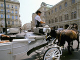 Horse Drawn Carriage, Vienna, Austria Photographic Print by Oliviero Olivieri