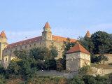 Gothic 15th Century Castle Dominates Bratislava at Dusk, Bratislava, Slovakia Photographic Print by Richard Nebesky