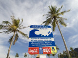 Tsunami Warning Sign, Phi Phi Don Island, Thailand, Southeast Asia Photographic Print by Sergio Pitamitz