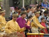 Malay Men Wearing Traditional Dress, Merdeka Square, Malaysia Photographic Print by Richard Nebesky