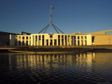Exterior of Parliament House, Early Morning, Canberra, A.C.T., Australia Photographic Print by Richard Nebesky