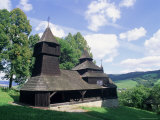 Wooden Orthodox 18th Century Church of St. Cosmas and St. Damian Dating from 1709 Photographic Print by Richard Nebesky