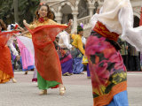 Malay Dancers Wearing Traditional Dress at Celebrations of Kuala Lumpur City Day Commemoration Photographic Print by Richard Nebesky