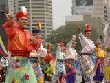 Malay Male Dancer Wearing Traditional Dress at Celebrations of Kuala Lumpur City Day Commemoration Photographic Print by Richard Nebesky