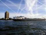 Cargo Boat on the River Ij, Amsterdam, the Netherlands (Holland) Photographic Print by Richard Nebesky