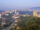 Town of Veliko Tarnovo and Walls of Tsarevets Fortress from Tsarevets Hill, Bulgaria Photographic Print by Richard Nebesky