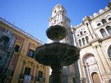 Fountain, Malaga, Costa Del Sol, Andalucia (Andalusia), Spain Photographic Print by Oliviero Olivieri