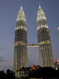 Petronas Twin Towers, One of Tallest Buildings in World, at Twilight, Kuala Lumpur, Malaysia Photographic Print by Richard Nebesky