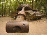 American Tank, Cu Chi Tunnels, Southern Vietnam, Southeast Asia Photographic Print by Christian Kober