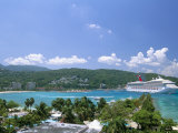 Cruise Ship Docked at Ocho Rios Bay, Ocho Rios, Jamaica, West Indies, Central America Photographic Print by Sergio Pitamitz