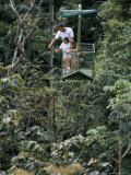 Aerial Tramway on Forest Canopy, Soberania Forest National Park, Gamboa, Panama, Central America Photographic Print by Sergio Pitamitz