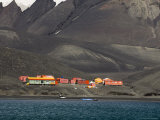 Spanish Base, Deception Island, South Shetland Islands, Antarctica, Polar Regions Photographic Print by Sergio Pitamitz