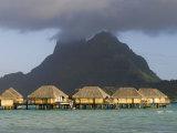 Pearl Beach Resort, Bora-Bora, Leeward Group, Society Islands, French Polynesia Photographic Print by Sergio Pitamitz