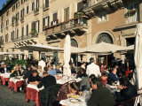 Outdoor Cafe, Piazza Navona, Rome, Lazio, Italy Photographic Print by Sergio Pitamitz