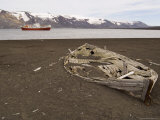 Old Whaling Boat, Telephone Bay, Deception Island, South Shetland Islands, Antarctica, Polar Region Photographic Print by Sergio Pitamitz