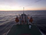 Antarctic Dream Ship in Drake Passage at Sunset, Antarctica, Polar Regions Photographic Print by Sergio Pitamitz