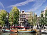 Canal Keizersgracht, Ámsterdam, los Países Bajos (Holanda) Lámina fotográfica por Sergio Pitamitz