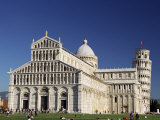 Duomo and Leaning Tower of Pisa, Campo Dei Miracoli, Pisa, Tuscany, Italy Photographic Print by Sergio Pitamitz