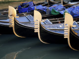 Row of Gondolas, Venice, Veneto, Italy Photographic Print by Sergio Pitamitz