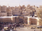 Bab Al Yemen, Old Town, Sana'A, Unesco World Heritage Site, Republic of Yemen, Middle East Photographic Print by Sergio Pitamitz