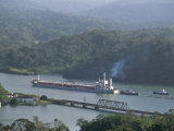 Cargo Ship in Culebra Cut, Panama Canal, Panama, Central America Photographic Print by Sergio Pitamitz
