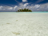 Sharks, Blue Lagoon, Rangiroa, Tuamotu Archipelago, French Polynesia Islands Photographic Print by Sergio Pitamitz