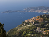 Eze Village and Cap Ferrat, Alpes Maritimes, Provence, Cote d'Azur, French Riviera, France Photographic Print by Sergio Pitamitz