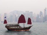 Chinese Junk, Hong Kong, China Photographic Print by Sergio Pitamitz