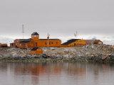 Chilean Antarctic Research Base Gonzalez Videla, Paradise Bay, Antarctic Peninsula, Antarctica Photographic Print by Sergio Pitamitz