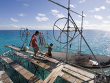 Hinano Black Pearl Farm, Fakarawa, Tuamotu Archipelago, French Polynesia Islands Photographic Print by Sergio Pitamitz