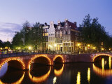 Corner of Keizersgracht and Leidsegracht, Amsterdam, the Netherlands (Holland) Photographic Print by Sergio Pitamitz