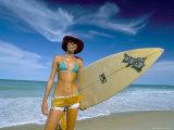 Surfer, Praia Do Amor, Pipa, Natal, Rio Grande Do Norte State, Brazil, South America Photographic Print by Sergio Pitamitz