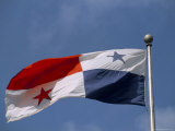 Panamanian Flag, Panama, Central America Photographic Print by Sergio Pitamitz
