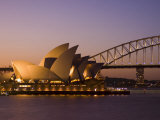 Opera House and Harbour Bridge, Sydney, New South Wales, Australia Lmina fotogrfica por Sergio Pitamitz