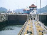 Miraflores Locks, Panama Canal, Panama, Central America Photographic Print by Sergio Pitamitz