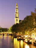 Westerkerk, Prinsengracht, Amsterdam, the Netherlands (Holland) Photographic Print by Sergio Pitamitz