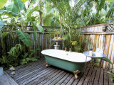 Open Air Bath at Luxury Hotel, Formerly Ian Fleming's House, Goldeneye, St. Mary Photographic Print by Sergio Pitamitz