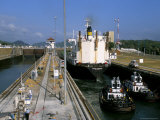 Miraflores Locks, Panama Canal, Panama, Central America Photographic Print by Sergio Pitamitz