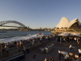 Opera House and Harbour Bridge, Sydney, New South Wales, Australia Photographic Print by Sergio Pitamitz