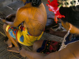 Body Art of the Embera Indian Women, Soberania Forest National Park, Panama, Central America, Photographic Print