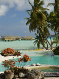 Pearl Beach Resort, Bora-Bora, Leeward Group, Society Islands, French Polynesia Lmina fotogrfica por Sergio Pitamitz