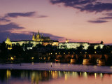 Prague Castle and Charles Bridge, Prague, Czech Republic Photographic Print by Sergio Pitamitz