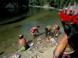 Embera Indian, Soberania Forest National Park, Panama, Central America Photographic Print by Sergio Pitamitz
