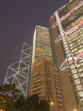 From Left to Right, the Bank of China Tower, Cheung Kong Centre, and Hsbc Building Photographic Print by Sergio Pitamitz