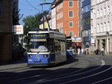 Tram in the City Centre, Munich, Bavaria, Germany Photographic Print by Yadid Levy