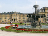 Schlossplatz (Palace Square) and Neues Schloss, Stuttgart, Baden Wurttemberg, Germany Photographic Print by Yadid Levy